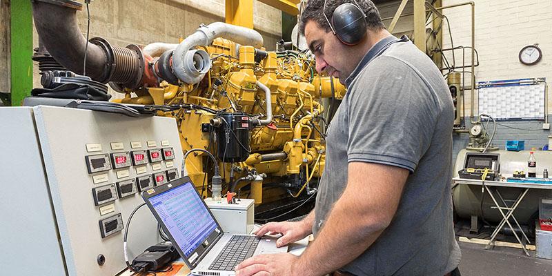 Instandsetzung von Diesel- und Gasmotoren, Prüfstandslauf auf modernen Prüfständen